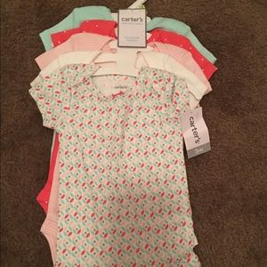 Set of 5 baby girl onesies